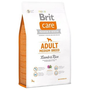 Brit (3 кг) Care Adult Medium Breed Lamb & Rice