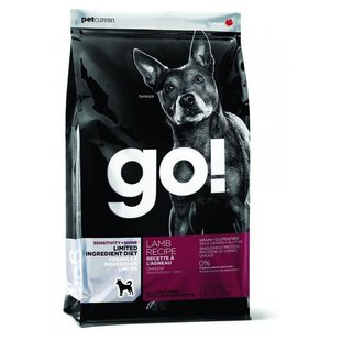 Корм для собак GO! Sensitivity + Shine Lamb Dog Recipe Limited Ingredient Diet, Grain Free, Potato Free