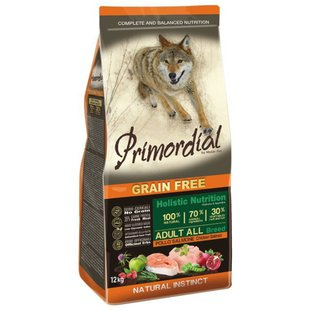 Корм для собак Primordial Grain Free Adult All Breed Chicken Salmon