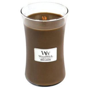 Свеча WoodWick Amber & Incense (93041), большая